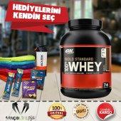 Optimum Gold Standard Whey Protein Tozu 2273 Gr + Hediyeni Kendin Seç