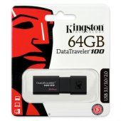 Kingston 64gb Usb3.0 Memory Dt100g3 64gb Siyah