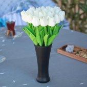 Fransız Style Vazoda 20lu Islak Lale Yapay Çiçek...