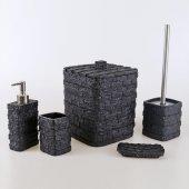 Selim Stone Siyah Banyo Seti