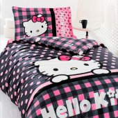 Hello Kitty Style Nevresim Takımı Tek Kişilik